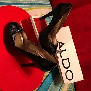 Authentic Aldo Orizaba Heel black leather shoes